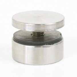 "1-1/2"" x 1-3/4"" Stainless Steel Standoff for Glass Display"