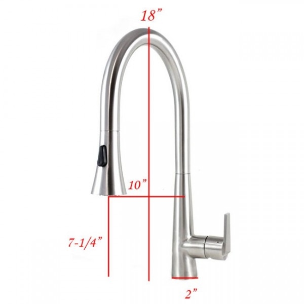 Eclipses Style Solid Stainless Steel Pull Out Sprayer Faucet