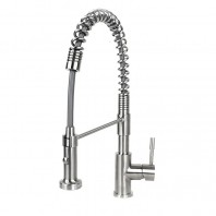 Ariel Coil Style Solid Stainless Steel Pull Out Kitchen Faucet