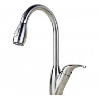 Ariel Tulip Stainless Steel Pull Out Sprayer Kitchen Faucet