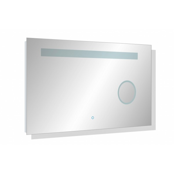 Wall Mount LED Bathroom Mirror Touch Button Dual Light