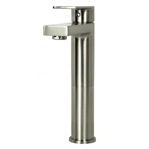 Style Brushed Nickel Solid Brass Single-hole Lever Bathroom Vanity ...