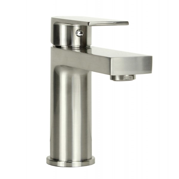 Anna Style Brushed Nickel Solid Brass Single Hole Lever Bathroom ...