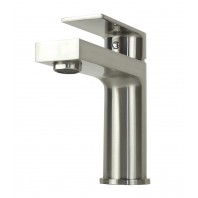 Anna Style Brushed Nickel Solid Brass Single Hole Lever Bathroom Vanity Faucet
