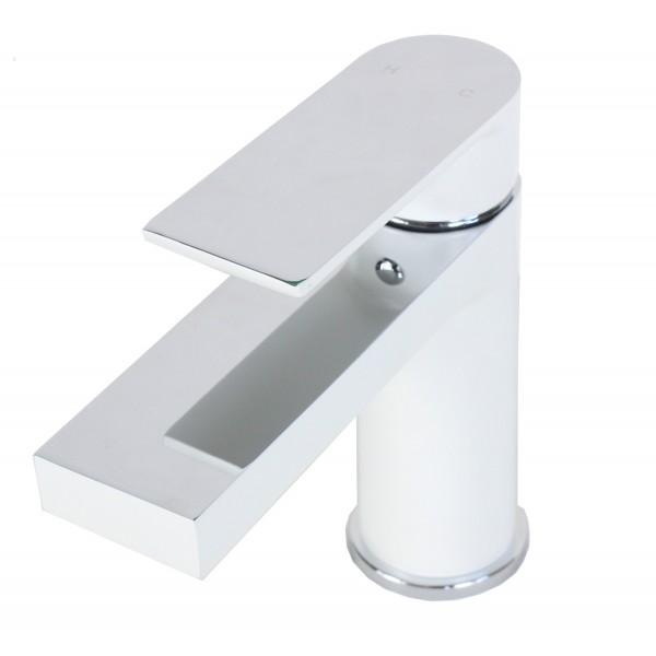 Style Matte White Solid Brass Single-hole Bathroom/Vanity/Lavatory ...