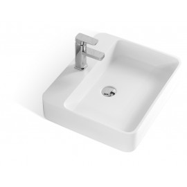 22-Inch Stone Resin Solid Surface Rectangular Shape Vessel Sink