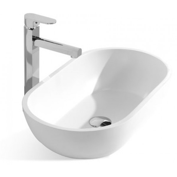 22-Inch Stone Resin Solid Surface Bathroom Vessel Sink