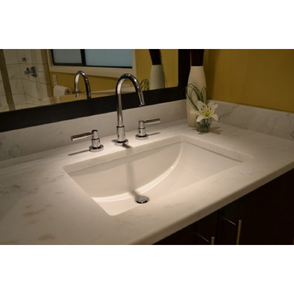 20 7 8 White Ceramic Porcelain Rectangular Shape Bathroom Vanity Undermount Sink