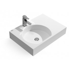 26-Inch Stone Resin Solid Surface Bathroom Vessel Sink