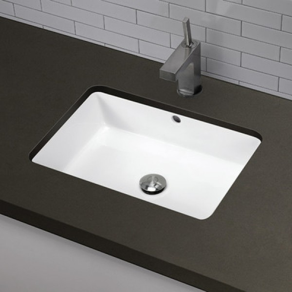 20 7 8 White Ceramic Porcelain Rectangular Shape Bathroom Vanity Undermount Sink
