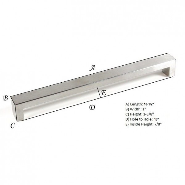 Kingsman Bold Series 10 in. Center-to-Center (254mm) Stainless Steel Drawer Pull