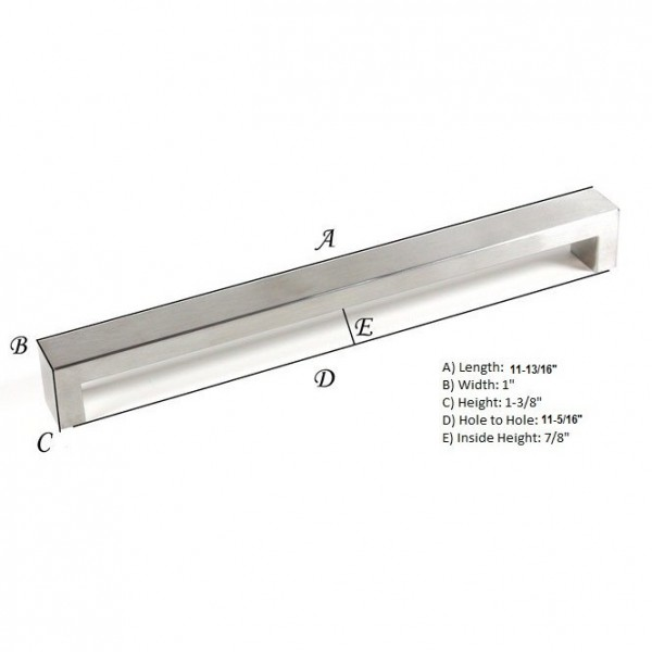 Kingsman Bold Series 11-3/8 in. Center-to-Center (288mm) Stainless Steel Drawer Pull
