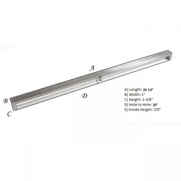Kingsman Bold Series 29 in. Center-to-Center (736mm) Stainless Steel Drawer Pull