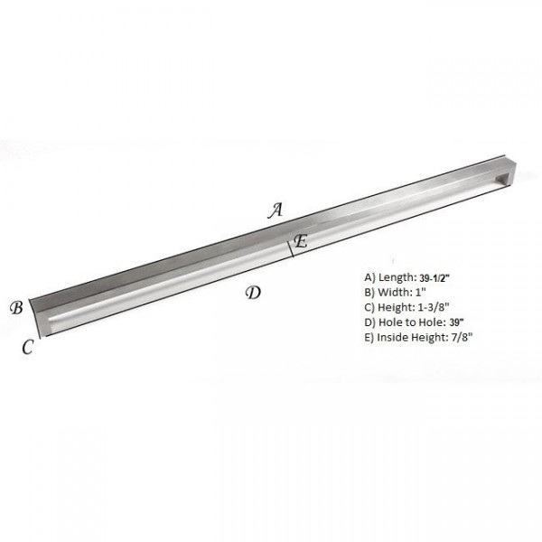Kingsman Bold Series 39 In. Center-to-Center (990mm) Stainless Steel Drawer Pull