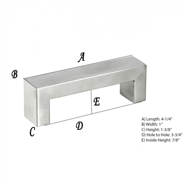 Kingsman Bold Series 3-3/4 in. Center-to-Center (96mm) Stainless Steel Drawer Pull