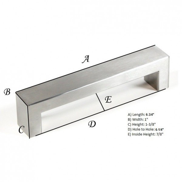 Kingsman Bold Series 6-1/4 in. Center-to-Center (159mm) Stainless Steel Drawer Pull