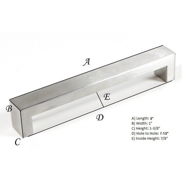 Kingsman Bold Series 7-1/2 in. Center-to-Center (190mm) Stainless Steel Drawer Pull