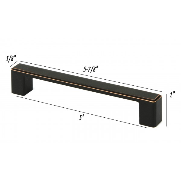 NEPOLI Series 5-7/8 In. Solid Zinc Alloy Oil Rubbed Bronze Drawer Pull Handle
