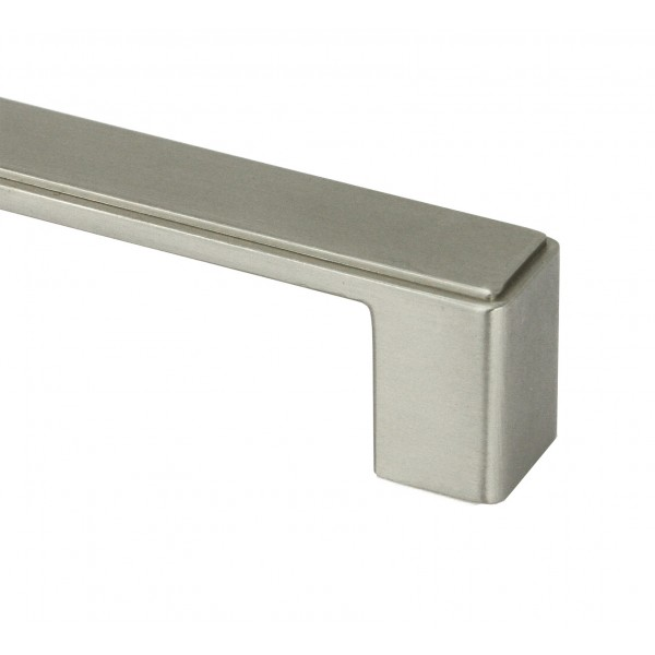 NEPOLI Series 8-3/8 In. Solid Zinc Alloy Brushed Nickel Drawer Pull Handle