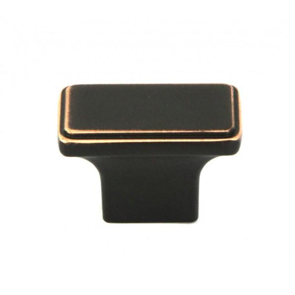 NEPOLI Series Rectangle 1-1/2 In. x 7/8 In Oil Rubbed Bronze Cabinet Knob