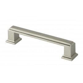 ROMA Series 4-1/4 in. Solid Zinc Alloy Brushed Nickel Drawer Pull Handle