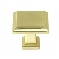 ROMA Series Solid Square 1-1/4 In. Brushed Champagne Gold Finish Cabinet Knob
