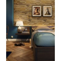 Solid Wood Light Oak Color Rectangular shape Wall Panel 10 sq ft / Box