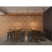 3D Solid Wood Wall Panel