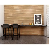 Peel and Stick natural color reclaimed wood panels 16 Sq Ft / Box