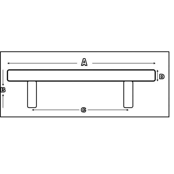 6-inch Solid Stainless Steel Cabinet Pull Handle