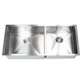 "42"" Stainless Steel Undermount Double Bowl Kitchen Sink"