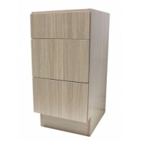 12 Inch European Style 3 Drawer Vanity Birch Wood Pattern