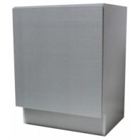 24 Inch European Style Silver Grey Cotton Pattern Bathroom Vanity