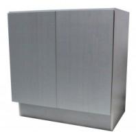 27 Inch European Style Silver Grey Cotton Pattern Bathroom Vanity