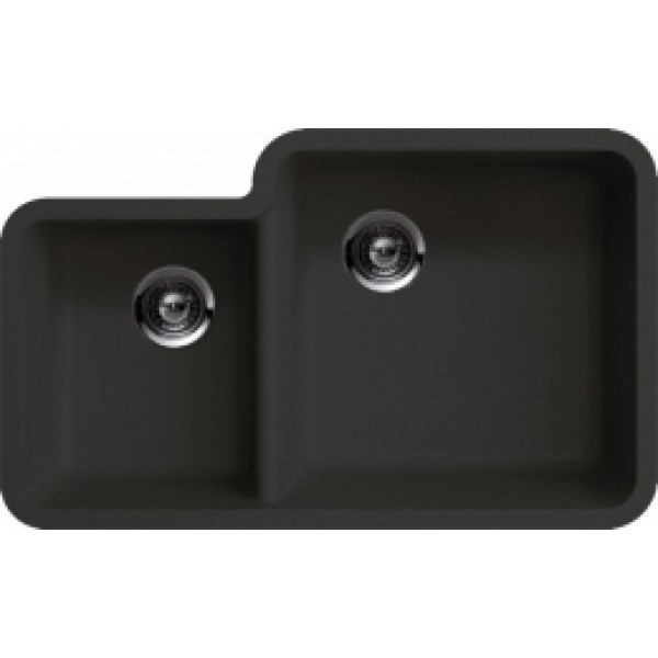 Granite Composite Undermount Kitchen Sinks Black granite composite 4060 undermount kitchen sink workwithnaturefo