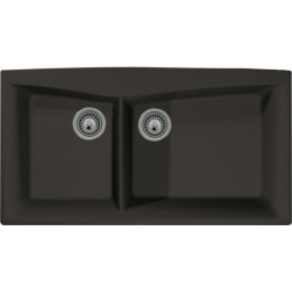 Black Granite Composite 4060 Drop In Kitchen Sink