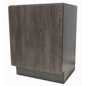 24 Inch European Style Dark Walnut Pattern Bathroom Vanity