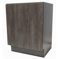 24 Inch European Style Dark Walnut Pattern Bathroom Vanity