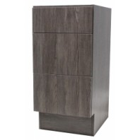 12 Inch European Style 3 Drawer Vanity Walnut Wood Pattern