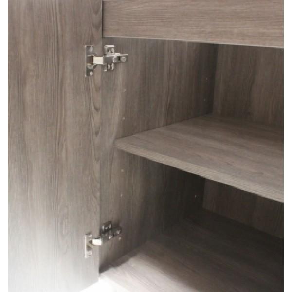 30 Inch European Style Dark Walnut Pattern Bathroom Vanity