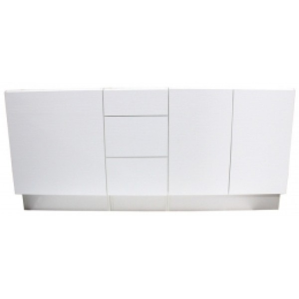 "24"" White color Bathroom Vanity with Crocodile Pattern"